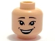 Part No: 3626bpb0352  Name: Minifigure, Head Male Large Grin and Dimples, Asian Eyes, White Pupils Pattern - Blocked Open Stud
