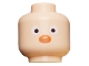 Part No: 3626bpb0441  Name: Minifigure, Head White Eyes, Black Pupils and Red Nose Pattern - Blocked Open Stud
