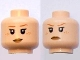 Part No: 3626bpb0476  Name: Minifigure, Head Dual Sided Female with Freckles and Eyelashes, Smile / Frown Pattern (HP Ginny Weasley) - Blocked Open Stud