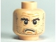 Part No: 3626bpb0484  Name: Minifigure, Head Stubble, Bushy Eyebrows, Forehead Lines Pattern (HP Argus Filch) - Blocked Open Stud