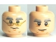 Part No: 3626bpb0485  Name: Minifigure, Head Dual Sided HP Dumbledore Glasses / No Glasses Pattern - Blocked Open Stud