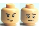Part No: 3626bpb0491  Name: Minifigure, Head Dual Sided HP Draco Smirking / Troubled Pattern - Blocked Open Stud
