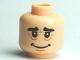 Part No: 3626bpb0493  Name: Minifigure, Head Male HP Hagrid Wrinkles Pattern - Blocked Open Stud