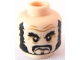 Part No: 3626bpb0565  Name: Minifigure, Head PotC Beard Black, Bushy Eyebrows, Moustache Pattern - Blocked Open Stud