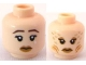 Part No: 3626bpb0569  Name: Minifigure, Head Dual Sided Female Mermaid with Dark Brown Sad Eyebrows and Tear / Scales and Gills Pattern - Blocked Open Stud