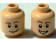 Part No: 3626bpb0589  Name: Minifigure, Head Dual Sided HP Fred / George Weasley Closed Mouth / Open Mouth Smile Pattern - Blocked Open Stud