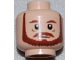 Part No: 3626bpb0620  Name: Minifigure, Head Beard with Brown Eyebrows, Moustache and Beard Pattern - Blocked Open Stud