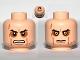 Part No: 3626bpb0671  Name: Minifigure, Head Dual Sided Sunken Eyes, Cheek Lines, Teeth / Closed Mouth Pattern (SW Anakin Sith) - Blocked Open Stud