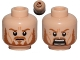 Part No: 3626bpb0725  Name: Minifigure, Head Dual Sided LotR Eomer Beard and Crow's Feet Frowning / Shouting Pattern - Blocked Open Stud