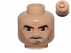 Part No: 3626cpb0317  Name: Minifigure, Head Male Thick Eyebrows, Brown Eyes, Five O'Clock Shadow Stubble Pattern (SW Captain Rex) - Hollow Stud
