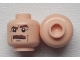Part No: 3626cpb0357  Name: Minifigure, Head Moustache Brown Bushy, Brown Eyebrows, White Pupils Pattern - Hollow Stud