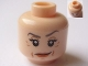 Part No: 3626cpb0481  Name: Minifigure, Head Female with Red Lips, Eyelashes, Wrinkles Pattern (HP Professor McGonagall) - Hollow Stud