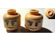 Part No: 3626cpb0485  Name: Minifigure, Head Dual Sided HP Dumbledore Glasses / No Glasses Pattern - Hollow Stud