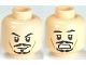 Part No: 3626cpb0559  Name: Minifigure, Head Dual Sided PotC Jack Black Moustache, Smile / Scared Pattern - Hollow Stud