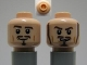 Part No: 3626cpb0574b  Name: Minifigure, Head Dual Sided PotC Will Moustache, Goatee, Sneer with Sideburns / Smile without Sideburns Pattern - Hollow Stud