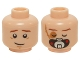 Part No: 3626cpb0601  Name: Minifigure, Head Dual Sided Male with Open Eyes / Scar, Closed Eyes Bacta Tank Mask Pattern (SW Luke) - Hollow Stud
