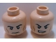 Part No: 3626cpb0636  Name: Minifigure, Head Dual Sided Black Eyebrows, Cheek Lines, Frown / Determined Pattern (Superman) - Hollow Stud