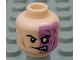Part No: 3626cpb0648  Name: Minifigure, Head Male Half Normal, Half Purple with Scar and No Pupil Pattern (Two-Face) - Hollow Stud