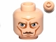 Part No: 3626cpb0755  Name: Minifigure, Head Male Large Blue Eyes, Cheek Lines and High Brow Pattern (SW Clone Wars Pre Vizsla) - Hollow Stud
