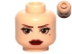 Part No: 3626cpb0802  Name: Minifigure, Head Female with Brown Eyebrows, Black Thick Eyelashes, Large Brown Eyes, Brown Beauty Mark, Red Lips Pattern (SW Amidala) - Hollow Stud