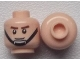 Part No: 3626cpb0804  Name: Minifigure, Head Male Brown Eyebrows, Smile, Black Chin Strap Pattern - Hollow Stud