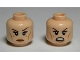 Part No: 3626cpb0813  Name: Minifigure, Head Dual Sided Female LotR Tauriel, Freckles, Calm / Angry, Bared Teeth Pattern - Hollow Stud