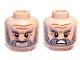 Part No: 3626cpb0835  Name: Minifigure, Head Dual Sided LotR Beard Gray Full, Bushy Eyebrows and Wrinkles, Calm / Battle Rage Pattern (Dori) - Hollow Stud