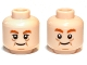 Part No: 3626cpb0868  Name: Minifigure, Head Dual Sided LotR Bombur Cheek Lines Happy / Surprised Pattern - Hollow Stud