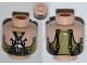 Part No: 3626cpb0875  Name: Minifigure, Head Dual Sided Male Mask Olive Green / Hoses on Back Pattern - Hollow Stud