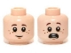 Part No: 3626cpb0957  Name: Minifigure, Head Dual Sided Boy with Freckles, Smile / Scared Pattern (Danny Reid) - Hollow Stud