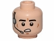 Part No: 3626cpb1033  Name: Minifigure, Head Male Black Eyebrows, Cheek Lines, Open Mouth, Headset Pattern (SW Imperial Gunner) - Hollow Stud