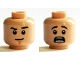 Part No: 3626cpb1371  Name: Minifigure, Head Dual Sided Black Eyebrows, Chin Dimple, Neutral / Scared Pattern (Fred) - Hollow Stud