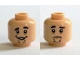 Part No: 3626cpb1375  Name: Minifigure, Head Dual Sided Black Eyebrows, Chin Stubble, Open Mouth Grin / Sad Face Pattern (Shaggy) - Hollow Stud