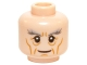 Part No: 3626cpb1430  Name: Minifigure, Head LotR Gandalf Thick Gray Eyebrows, Cheek Lines and Wrinkles Pattern - Hollow Stud