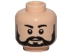 Part No: 3626cpb1468  Name: Minifigure, Head Beard Black Full, Black Eyebrows, White Pupils Pattern - Hollow Stud