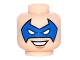 Part No: 3626cpb1513  Name: Minifigure, Head Male Blue Eye Mask Pointed with Eye Holes and Open Smile Pattern (Trickster) - Hollow Stud