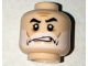 Part No: 3626cpb1577  Name: Minifigure, Head Beard White, Moustache, Black Eyebrows, Cheek Lines, Sneer Pattern (Captain Rex) - Hollow Stud