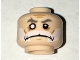 Part No: 3626cpb1578  Name: Minifigure, Head Beard White, Moustache, Gray Eyebrows, Cheek Lines, Scar over Right Missing Eye Pattern (Commander Wolffe) - Hollow Stud
