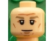 Part No: 3626cpb1608  Name: Minifigure, Head Dark Tan Eyebrows, White Pupils, Forehead and Cheek Lines, Chin Dimple Pattern (Bastian Schweinsteiger) - Hollow Stud
