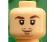 Part No: 3626cpb1609  Name: Minifigure, Head Reddish Brown Eyebrows, Chin and Moustache Stubble, White Pupils Pattern (Mario Götze) - Hollow Stud