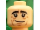 Part No: 3626cpb1611  Name: Minifigure, Head Black Eyebrows Bushy, White Pupils, Crow's Feet, Cheek Lines Pattern (Joachim Löw) - Hollow Stud