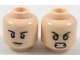 Part No: 3626cpb1941  Name: Minifigure, Head Dual Sided Black Eyebrows, Neutral / Green Eyes Angry Pattern - Hollow Stud