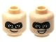 Part No: 3626cpb2117  Name: Minifigure, Head Dual Sided Black Mask, Closed Smile / Open Smile Pattern (Dash Parr) - Hollow Stud