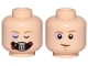 Part No: 3626cpb2231  Name: Minifigure, Head Dual Sided Male Bacta Tank Mask, Sunken Eye, Closed / Open Eyes Pattern (SW Luke) - Hollow Stud