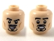 Part No: 3626cpb2250  Name: Minifigure, Head Dual Sided Black Eyebrows and Anchor Beard, Smiling / Scared Expression Pattern - Hollow Stud
