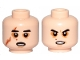 Part No: 3626cpb2351  Name: Minifigure, Head Dual Sided SW Black Eyebrows, Sunken Eyes, Red Beauty Mark / Mole, Right Eye Scar, Open Mouth / Determined Pattern (Kylo Ren) - Hollow Stud