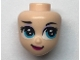 Part No: 66579  Name: Mini Doll, Head Friends with Dark Azure Large Eyes, Raised Right Eyebrow, and Closed Mouth Pattern (Elsa)