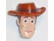 Part No: 87767pb02  Name: Minifigure, Head Modified Male with Dark Orange Hat and Dirt Stains (Woody)