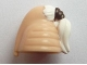 Part No: 92753pb01  Name: Minifigure, Headgear Head Top, SW Ceran Skull Top with White Ponytail Hair Ki-Adi-Mundi Pattern