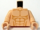 Part No: 973pb0539c01  Name: Torso Bare Chest with Muscles Outline Detailed Pattern / Light Nougat Arms / Light Nougat Hands
